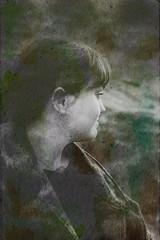 Nº6 (nuriagalv) Tags: watercolor portrait color people black bnw bw blanco bn blancoynegro boy blackandwhite bnwphotography bnwportrait girl
