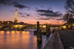 Icon of Paris (Sizun Eye) Tags: paris eiffeltower seineriver france sizuneye nikond750 tamron2470mmf28 twilight evening le longexposure glow city bridge pontdesinvalides