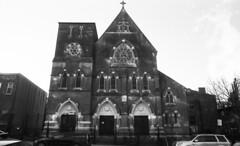 Church (neilsonabeel) Tags: nikonfe2 nikon nikkor film analogue blackandwhite church brooklyn newyorkcity 24mm