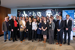 Family photo of the ITF-POLIS Joint Workshop (International Transport Forum) Tags: itf safercitystreets4thmeeting oecd roadsafety cycling 2018 polis manchester