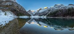 Morning Silence (PhiiiiiiiL) Tags: weissbad kantonappenzellinnerrhoden schweiz ch seealpsee säntis alpstein panorama morning first light snow schnee winter nikon d810 mountainlake