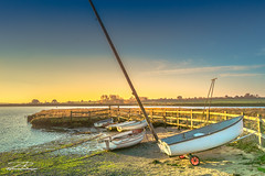 Kyson Hill Jetty (Aron Radford Photography) Tags: tyson hill suffolk woodbridge river debut golden hour boat jetty sunrise autumn