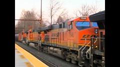 """Pumkin #7546"" (beagenm) Tags: bnsf bnsf7546 csx csxk138 crudeoilloads freighttrain freightlocomotives es44dc trentonsubdivision yardleypa"