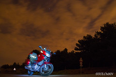 In the night (DOCESMAN) Tags: moto bike motor motorcycle motorrad motorcykel moottoripyörä motorkerékpár motocykel mototsikl honda nt700v ntv700 deauville docesman danidoces noche night nocturna