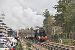 Bracknell Black Five (Deepgreen2009) Tags: steam uksteam bracknell water railway train victoria worcester exhaust station black five 44871 transport cathedrals express
