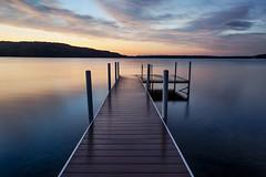 Time on the Dock (matthewkaz) Tags: dock lake limelake water sky clouds reflection reflections sunset longexposure cedar maplecity leelanau summer michigan puremichigan 2018