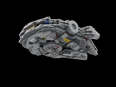 LEGO Midi Millenium Falcon bottom view (Cpt. Ammogeddon) Tags: star wars movie film lego toy kid adult teen model scale mini midi millenium falcon han solo empire hope jedi science fiction freighter space ship battle vehicle war sky