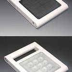 充電式ソーラーライトの写真