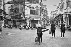 DSCF7614-Hanoi Old Quarter  darktable (cups1printer) Tags: gamcdougall darktableedit hanoi monochrome street streetportrait streetscene vietnam