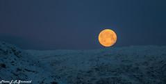 Full Moon (2000stargazer) Tags: fullmoon moon vidden bergen norway gullfjellet dark winter december mountains landscape nature snow canon