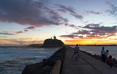 Breakwall at Sunset (Corey Hamilton) Tags: newsouthwales australia au sunset newcastle sunrise breakwall ocean beach d850 nikon walk