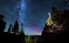 Night Hike (whatdidyouexpect) Tags: milkyway nightsky astrophotography astralphotography hiker hike rock hiking naturephotography night stars pnw d750 nikon