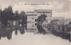 """NW Boyne Falls MI 1909 Village Lath Shingle or Grist Mill and Village Dam on the Boyne River in the heyday of Michigan Logging and Lumbering Photographer Unk (UpNorth Memories - Donald (Don) Harrison) Tags: vintage antique postcard rppc """"don harrison"""" """"upnorth memories"""" upnorth memories upnorthmemories michigan history heritage travel tourism restaurants cafes motels hotels """"tourist stops"""" """"travel trailer parks"""" cottages cabins """"roadside"""" """"natural wonders"""" attractions usa puremichigan """" """"car ferry"""" railroad ferry excursion boats ships bridge logging lumber michpics uscg uslss"""