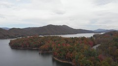 Fall Colors Watauga lake 223 (Steve4343) Tags: steve4343 appalachian trail cherokee national forest red green blue yellow orange white clouds sky beautiful tennessee autumn beauty county lake watauga cloud colorful woods garden gardens happy leaves rocks wildlife landscape mountain tree trees grass water wood summer spring macro flower flowers at carter 223 hampton rat branch drone dji mavic air