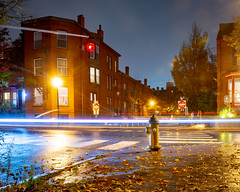 Park and Spring Street Hydrant at Night (Corey Templeton) Tags: autumn city fall intersection maine newengland night parkstreet portland portlandmaine springstreet unitedstates us