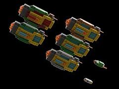 Imperator-class carrier (2) (kylerjadams) Tags: hiigaran kushan carrier space lego moc homeworld