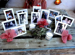 Wedding: Broom's History Display (dimaruss34) Tags: newyork brooklyn dmitriyfomenko image greece antiparos display pictures table candles flowers