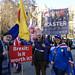 Brexit Demonstration Opposite Parliament