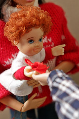 Christmas tree (kinmegami) Tags: christmastree christmas doll integrity toys miniature barbie roombox diorama 16 mattel kelly cupoche