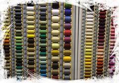Sewing cottons (Audrey A Jackson) Tags: canon60d bath city shop cottons colour