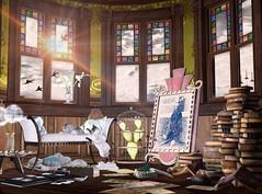 Dream Song (Varosh Santanamiguel) Tags: swank swankevent event eventexclusive events january 2019 tlg thelookingglass asw ~asw~ tm tmcreation cat kitten cats animal figure8 figure 8 home homey homedecor decorate decor books photo ionic mistique gacha rare adorablystrangewares house areiyon vsm
