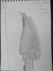 Jacket on wardrobe door (magnuscanis) Tags: 20190119
