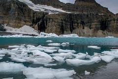 Glacial Icebergs (FJMaiers) Tags: gnp glaciernationalpark montana glacier grinnell salamander waterfall icebergs tarn runoff melting