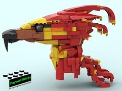 Fawkes WIP 3.5 (Playwell Bricks) Tags: lego legotechniques legoharrypotter harrypotter pheonix fawkes fantasticbeasts creativity design engineering