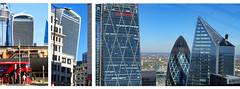 Walkie Talkie Views (Greenstone Girl) Tags: walkie talkie modern buildings skyscraper london fenchurch street concave blue red doubledecker bus