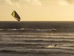 Kiteboarding, Ocean Beach, San Francisco (kate beale) Tags: oceanbeach sanfrancisco sf outersunset kiteboarding kiteboard kitesurfing winterwaves