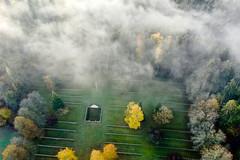 2018-11-06 Itinérance mémorielle, Meuse, site funéraire et mémorial des Eparges - non utilisable par la presse - (Elysée - Présidence de la République) Tags: verdun drone vueaérienne meuse itinérance douaumont pointx cimetièremilitairedutrottoir france centenaire 1418