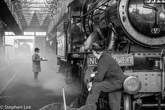 The Gaffer (StephenL in Settle) Tags: train railway didcot england uk steam