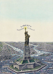 The Great Bartholdi Statue, Liberty Enlightening the World, published by Currier & Ives. Original from Library of Congress. Digitally enhanced by rawpixel. (Free Public Domain Illustrations by rawpixel) Tags: america american americanpeople antique art bartholdi bartholdistatue chromolithograph color currier currierives currierandives deco decor decoration drawings enlightening france freedom french gift giftoffrance great greatbartholdistatue harbor historical history illustrated illustration landmark landscape liberty newyork old people sketch state states statue statueofliberty symbol united unitedstates usa vintage world