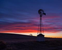 Good Morning (nikons4me) Tags: iowa ia earlymorning canoneos5dmarkii windmill sky clouds tamacounty canonef24105mmf4lisusm
