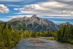 Mt. Lorette (Philip Kuntz) Tags: mtlorette kananaskisriver peak mountain river kananaskiscountry alberta canada