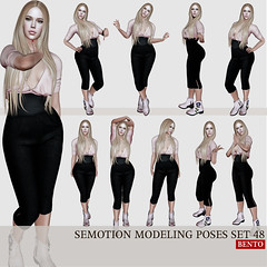 SEmotion Female Bento Modeling poses set 48 (Marie Sims) Tags: ao animations animation avatar anim animaitons animaions animated aohud animarions event 3d expression emotion expressions release rigged review trendy trend yummy hud inworld icing pose poses posing photographer photosl photo props secondlife stands slfashion slavatar fashion female fancy feelings hot kawaii libellune mocap modeling model mood woman xmas bento new