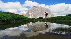 Lüner Krinne - Vorarlberg - Österreich (Felina Photography - www.mountainphotography.eu) Tags: lünersee lünerkrinne vorarlberg österreich austria oostenrijk reflection alpine lake lac see lago meer alpen alps brandnertal hiker hiking man mountain spiegelung spiegeling reflectie riflessi