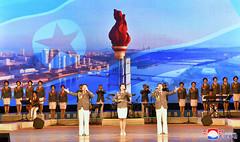 김일성-김정일주의청년동맹창립 73돐경축 청년중앙예술선전대공연 진행_2 (조선의 오늘) Tags: red