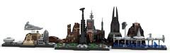 Star Wars Lego Skylines (BenBuildsLego) Tags: star wars skyline skylines moc lego legos render 3d studio bricklink amazing cool scarif jedha mustafar kamino coruscant architecture bricks brick