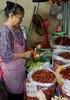 Shopkeeper (dmengel415) Tags: thailand chiangmai wararot market shopkeeper peppers katluang