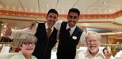 New Years Cruise (heytampa) Tags: cruise cruiseship diningroom brillianceoftheseas royalcaribbean waiter mimi janeen white ron adil subburaman restaurant