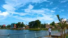 Hometown Madaripur Lake. #sky #lake #landscape #nature #eyeview (md.kouser1) Tags: landscape sky nature eyeview lake