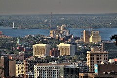 CANADA | Québec | Montréal (nizega) Tags: canada quebec montreal downtown skyscrapers cityscape view aerial bridge jacques cartier champlain south shore rive sud leonardo cohen light shadow nizega amazing beauty 2018 july