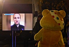 Harry Kane's virtual meeting with Pudsey (Kumukulanui) Tags: childreninneed rickshawchallenge pudsey harrykane football charity fundraising captain oneshow bbc1 malvern abbeyroad greatmalvern worcestershire