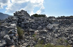 Megalithic houses (orientalizing) Tags: abandoned architecture deepmani greece katopagki lowermani mani medieval megalithic messamani oldochia peloponnese ruins village