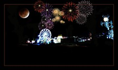 Festival in the middle of nowhere (MoparMadman63) Tags: illusion creative collage nightphotography dark fireworks festival carnival illustrative photoshop framed entertainment abstract