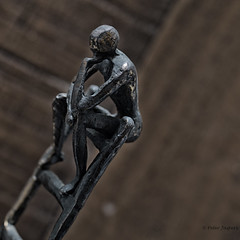 Some days you eat salads and go to the gym. Some days, you eat cupcakes and refuse to put on pants. It's called balance.... (Peter Jaspers) Tags: frompeterj© 2018 olympus zuiko omd em10 1240mm28 macromondays balance life statue figurine bronze dof home 500x500 square artihove macro