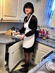 Maid Marie (Marie-Christine.TV) Tags: sissymaid sissy wife hausfrau hausdame elegant uniform schürze apron duty dienstmagd dienstmädchen maid feminine transvestite lady mariechristine french zofe hausmädchen servierdame