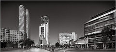 City West (marcuskuenzel) Tags: berlin city stadt deutschland foto photo impression panorama skyline sw black white bw skyscraper west