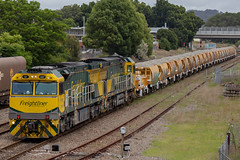 6M23N @ Tighes Hill (Electric Motive) Tags: train trains trainspotting locomotive loco freight freightliner